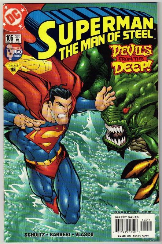 Superman  The Man of Steel #106 comic book mint 9.8