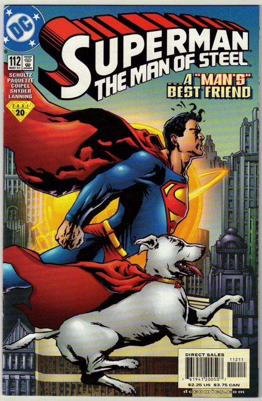 Superman The Man of Steel #112 comic book near mint 9.4