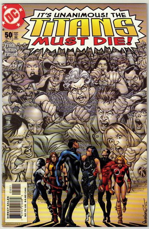 Titans #50 comic book near mint 9.4