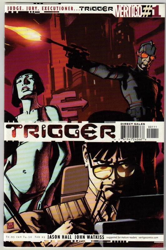 Trigger #1 Vertigo comic book near mint 9.4