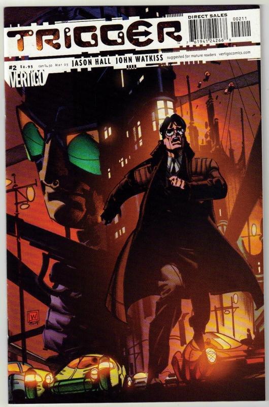 Trigger #2 Vertigo comic book near mint 9.4