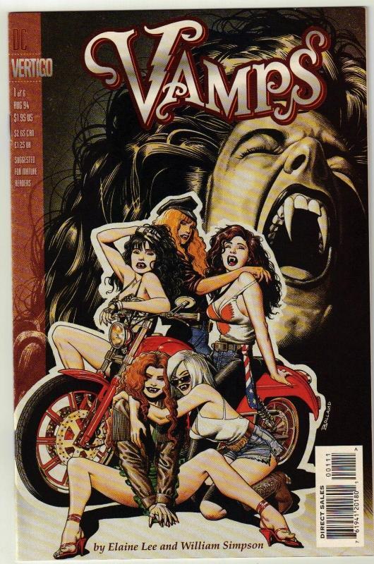 Vamps #1 Vertigo comic book near mint 9.4