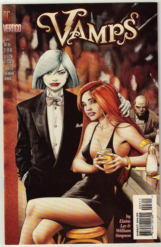 Vamps #3 Vertigo comic book near mint 9.4