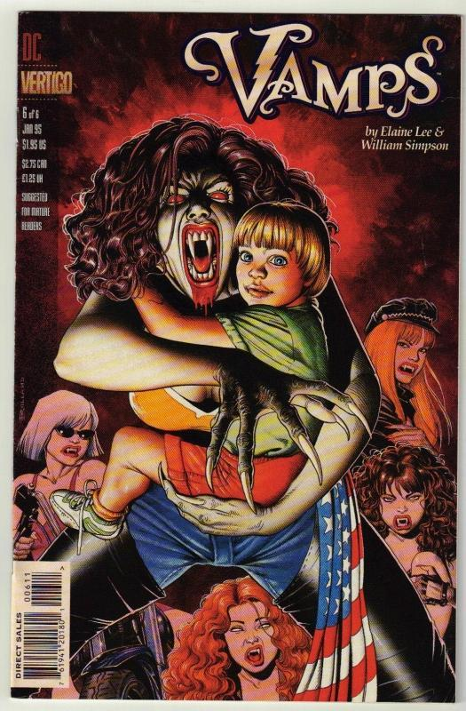 Vamps #6 Vertigo comic book near mint 9.4