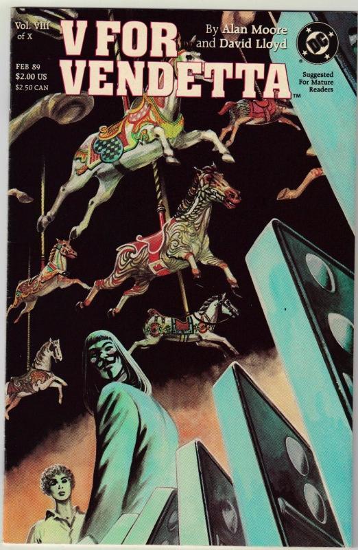 V For Vendetta #8 Vertigo comic book  near mint 9.4