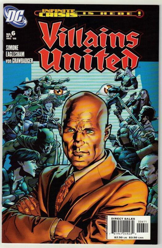Villains United #6 comic book  near mint 9.4