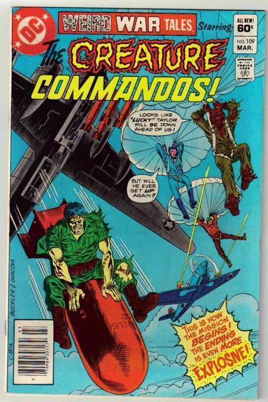 Weird War Tales #109 comic book fine 6.0