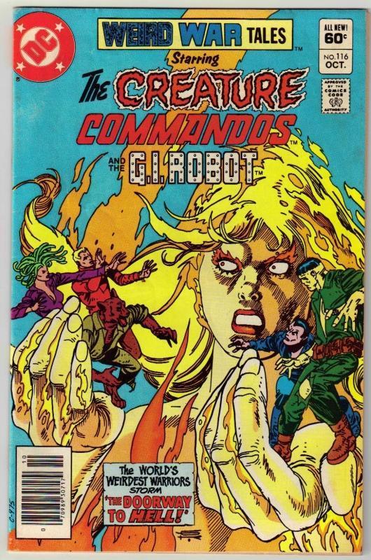 Weird War Tales #116 comic book fine 6.0