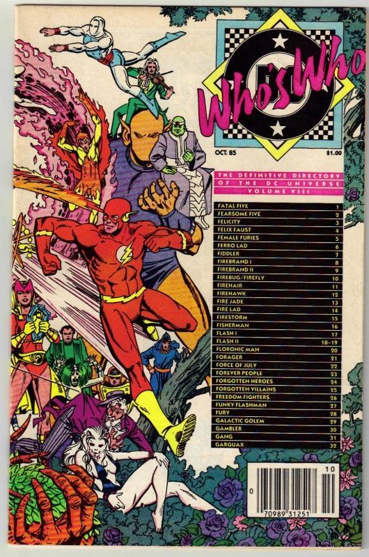 Who's Who #8 comic book fine 6.0