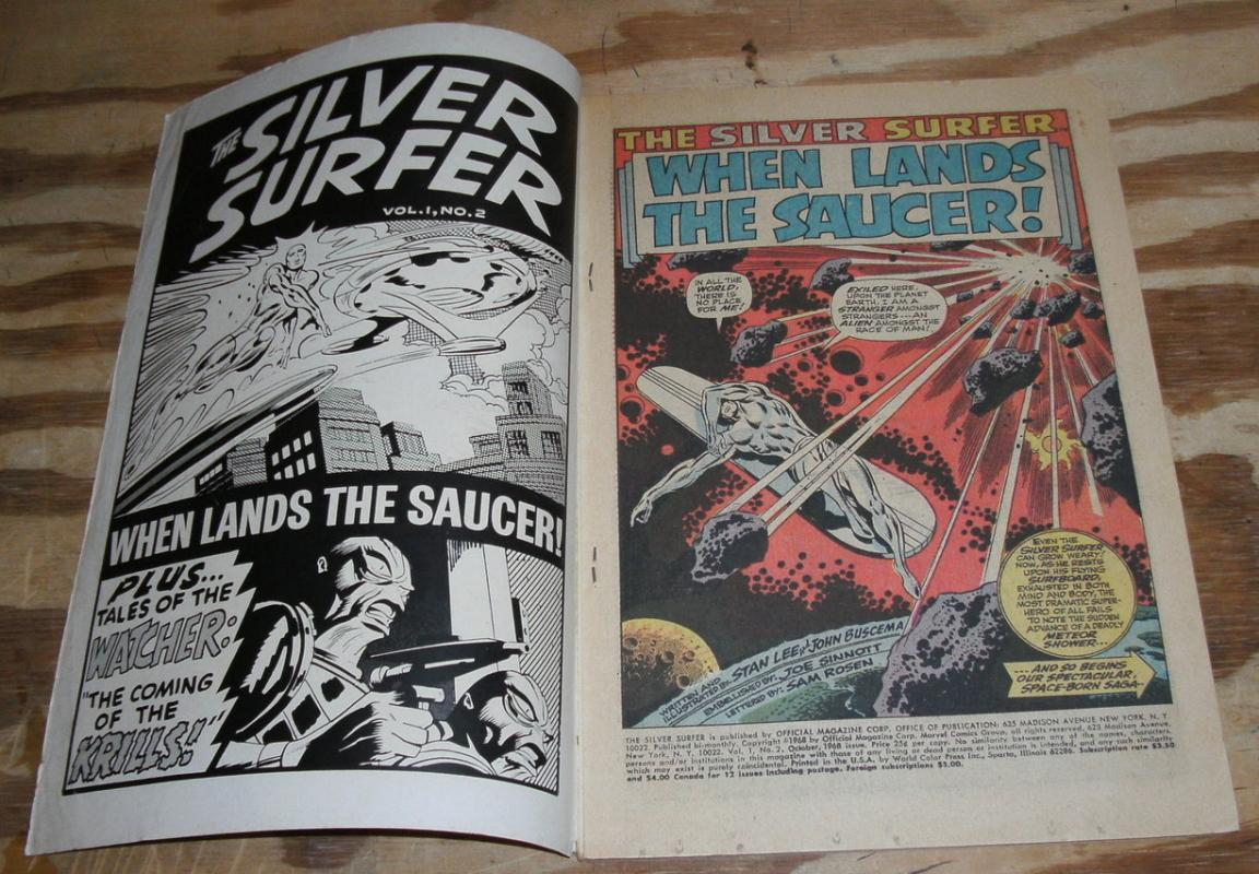 Silver Surfer #2 comic book very good 4.0