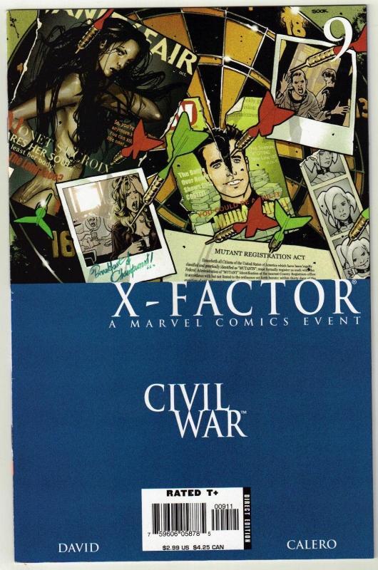 X-Factor #9 comic book near mint 9.4