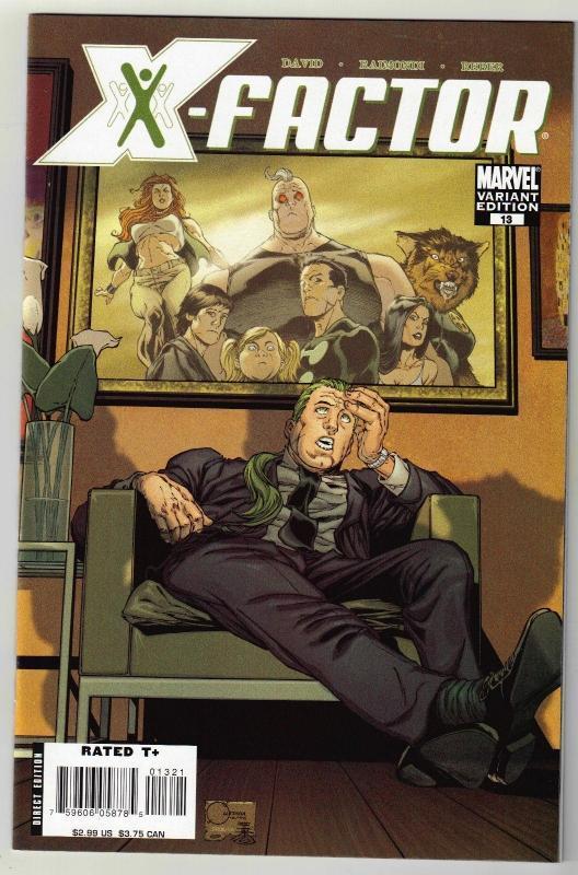 X-Factor #13 variant edition comic book near mint 9.4
