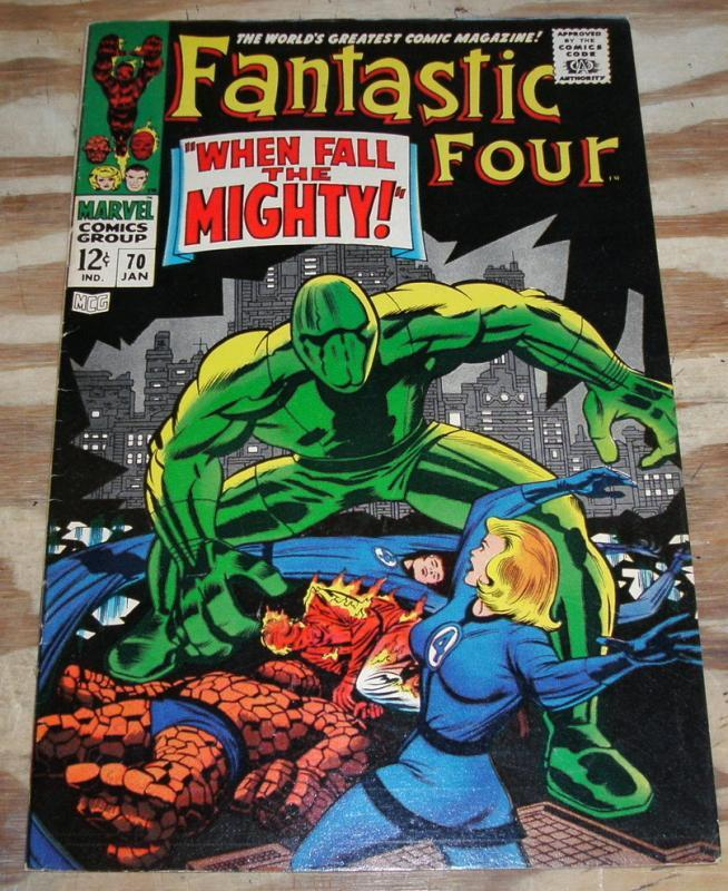 Fantastic Four #70 comic book very fine 8.0 but letters pages clipped