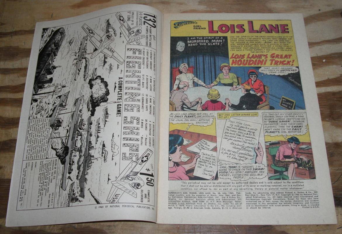 Superman's Girlfriend Lois Lane #58 comic book vf 8.0