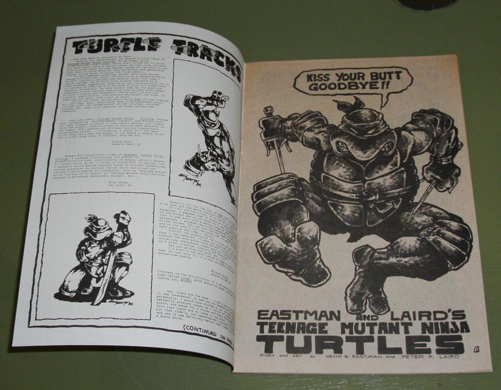 Teenage Mutant Ninja Turtles #2 first printing  near mint plus 9.6