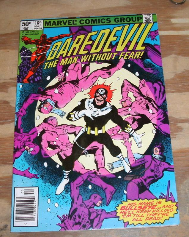 Daredevil #169 comic book very fine/near mint 9.0