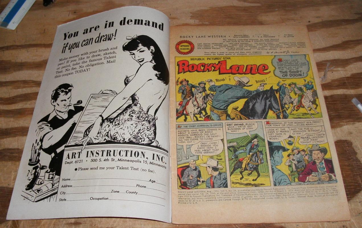 fine Rocky Lane Comic book #28