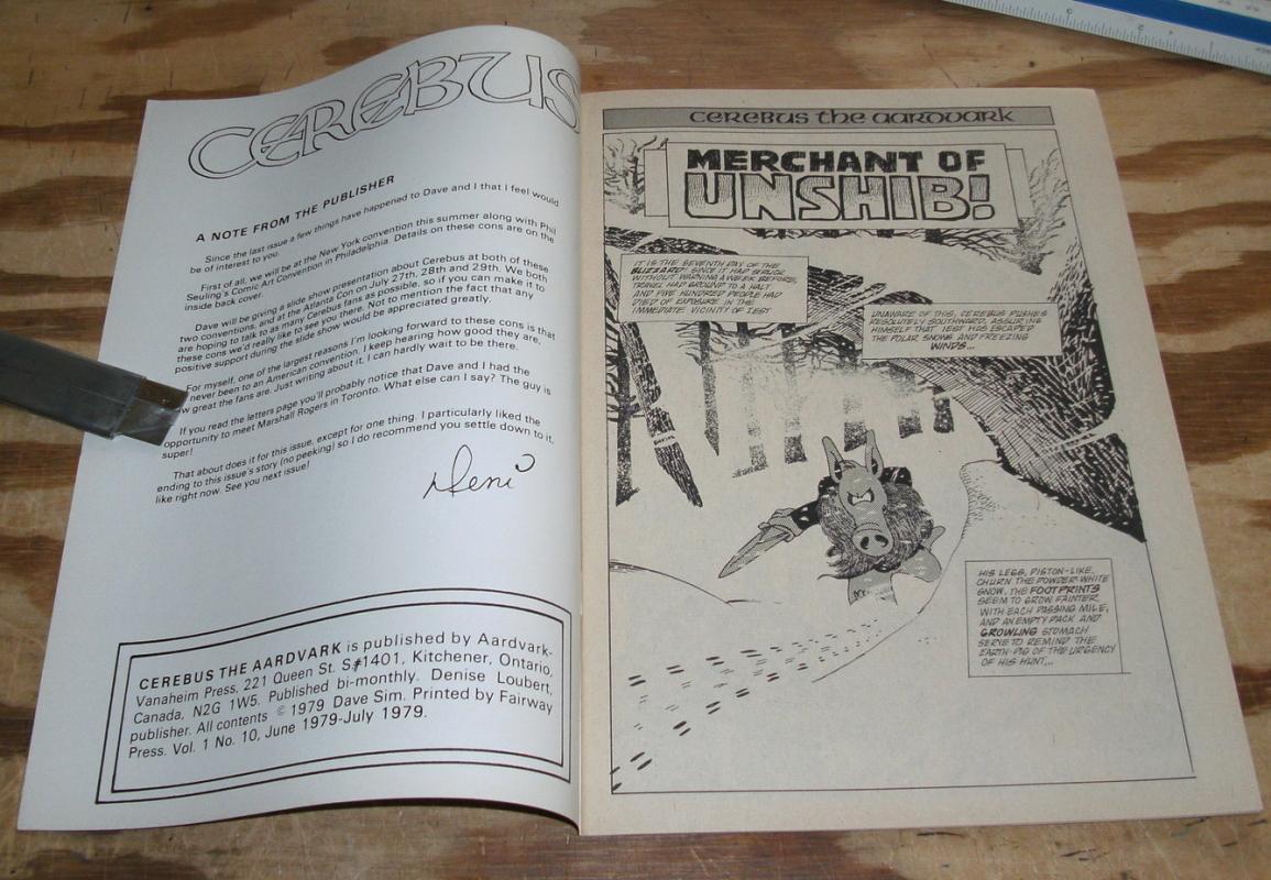 Cerebus #10 comic  fine 8.0