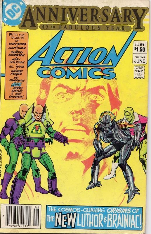 Action Comics 544 very good/fine 5.0