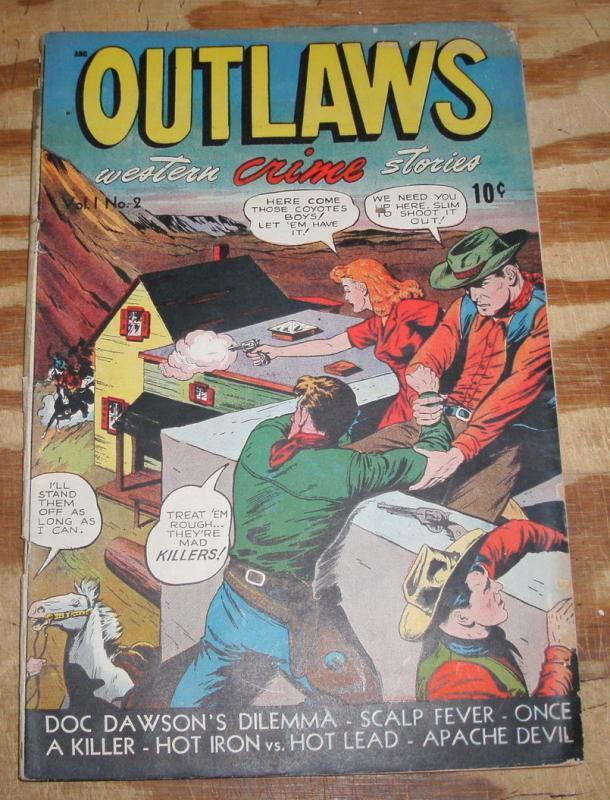 Outlaws #2 comic book good/very good 3.0
