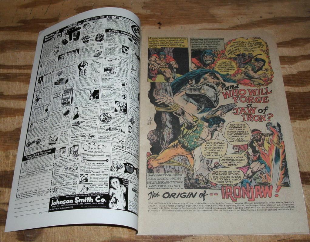 Iron Jaw  #4  comic book near mint 9.4