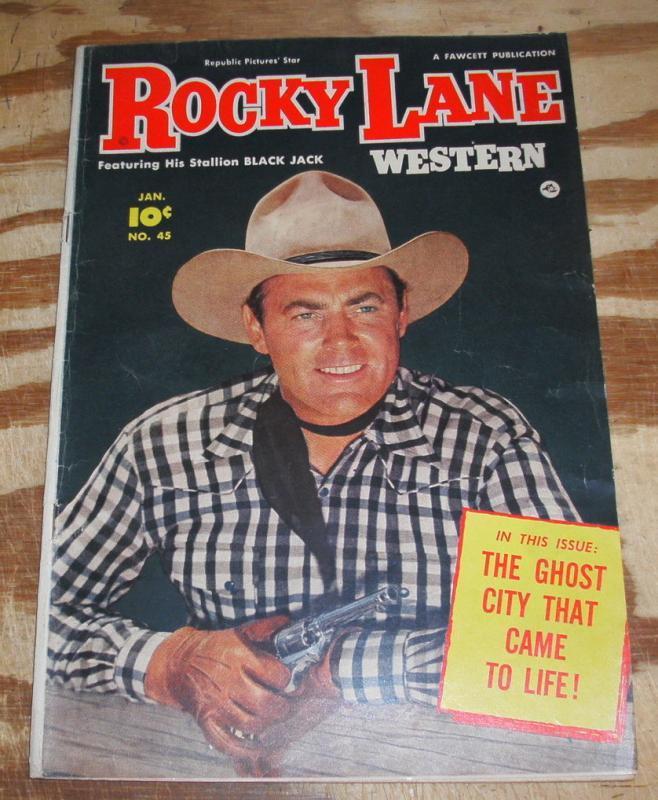 Rocky Lane Western #45 fine/very fine 7.0