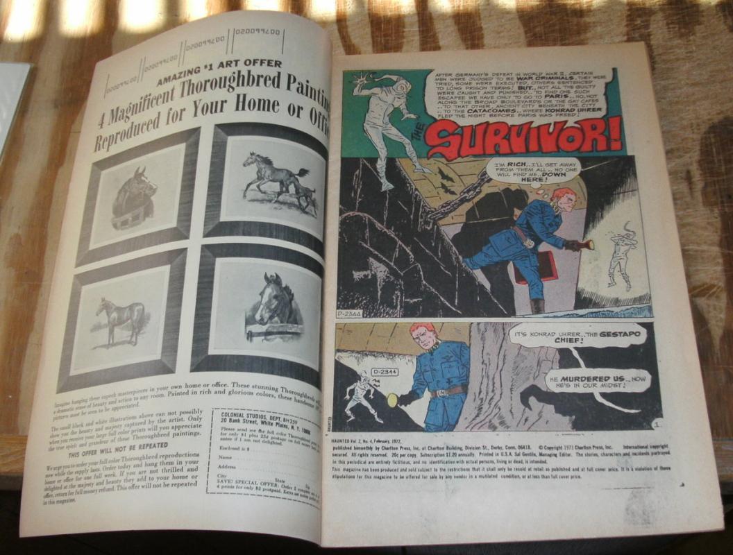 Haunted #4 comic book very fine 8.0