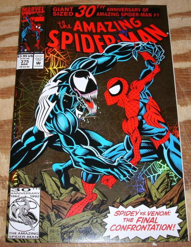Amazing Spider-man #375 hologram cover nm/m 9.8