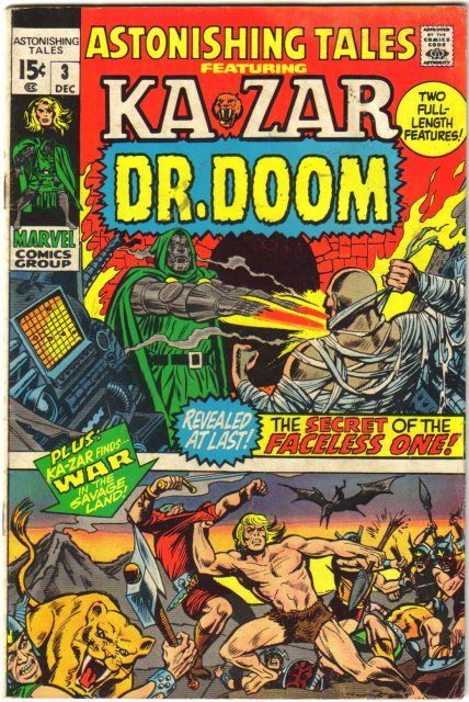 Astonishing Tales #3 featuring Kazar and Dr, Doom  comic book good/very good 3.0