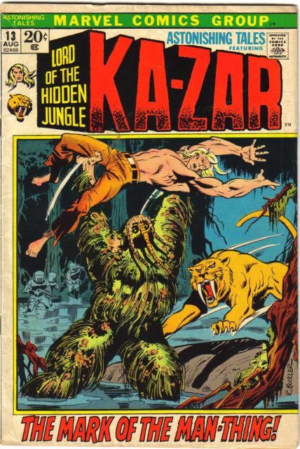 Astonishing Tales #13 featuring Ka-zar  comic book very good 4.0