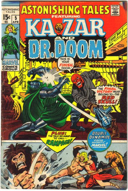 Astonishing Tales #5 featuring Ka-zar  comic book fine 6.0