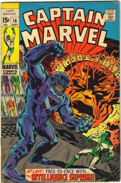 Captain Marvel #16  comic book fine 6.0