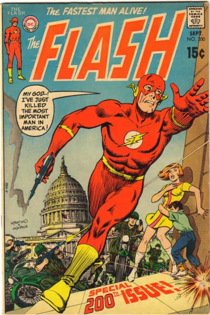 The Flash #200 comic book very good 4.0 with coupon clipped