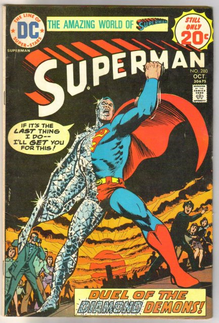 Superman #280 comic book very good/fine 5.0