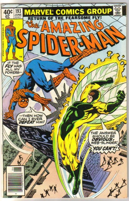 Amazing Spider-man #193 comic book very fine/near mint 9.0