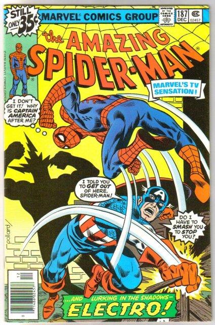 Amazing Spider-man #187 comic book very fine 8.0
