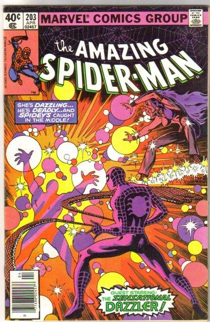 Amazing Spider-man #203 comic book very fine 8.0