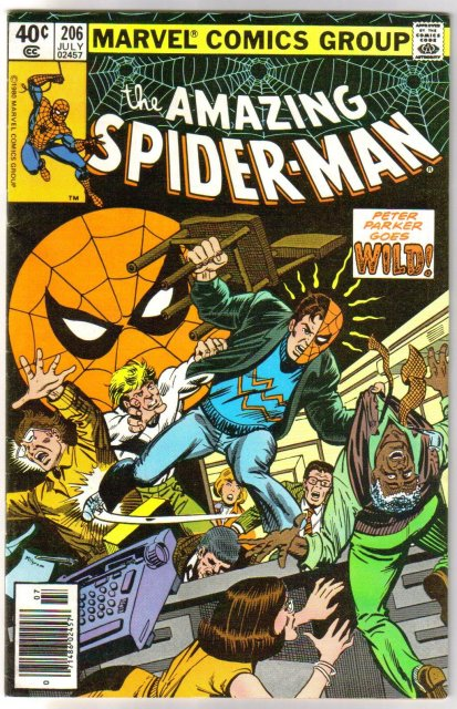 Amazing Spider-man #206 comic book very fine 8.0