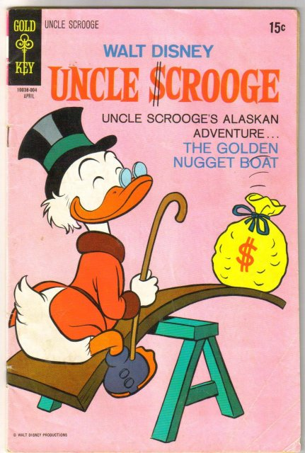 Uncle Scrooge #86  comic book very good 4.0