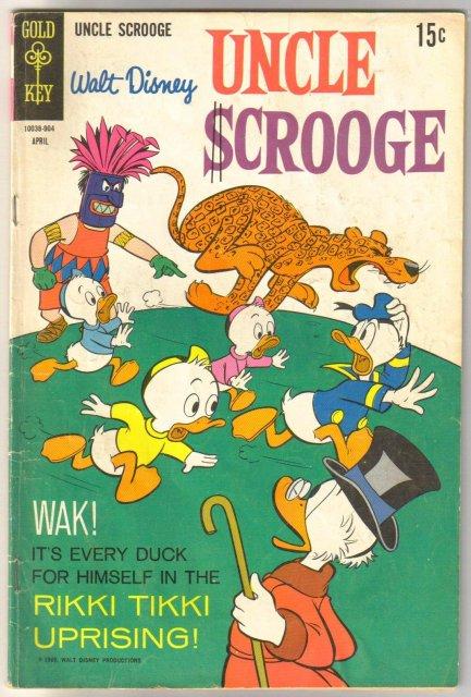Uncle Scrooge #80  comic book very good 4.0