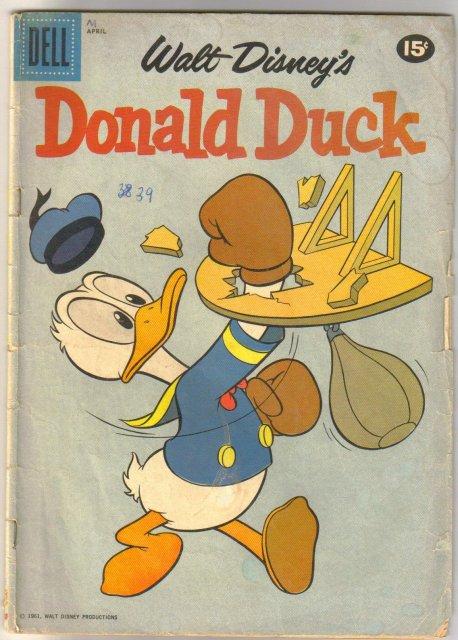 Donald Duck #76 comic book very good 4.0