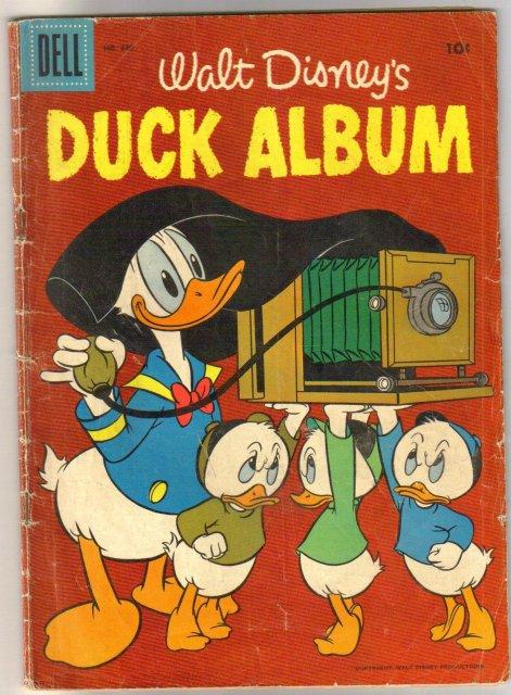 Four Color #840 Duck Album comic book good/very good 3.0