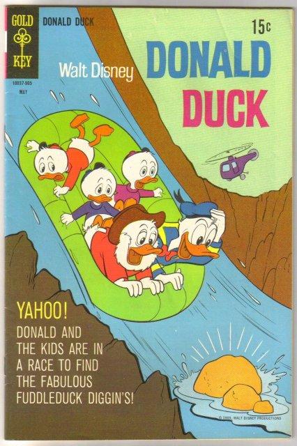 Donald Duck #125 comic book fine 6.0