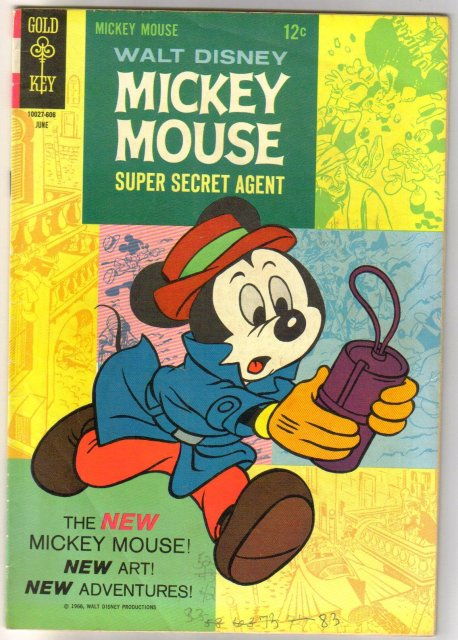 Mickey Mouse #107 comic book very good 4.0