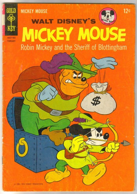 Mickey Mouse #99 comic book very good 4.0