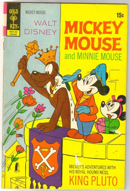 Mickey Mouse #134 comic book very good 4.0