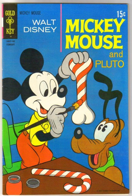 Mickey Mouse #128 comic book fine 6.0