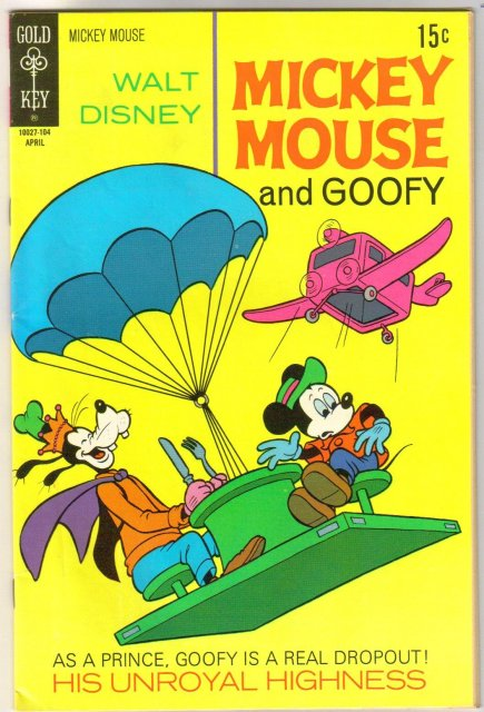 Mickey Mouse #129 comic book very fine 8.0