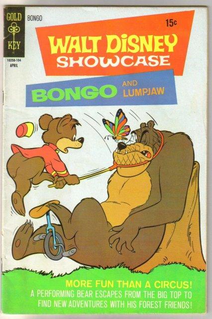Walt Disney Showcase #3 Bongo and Lumpjaw comic book fine 6.0