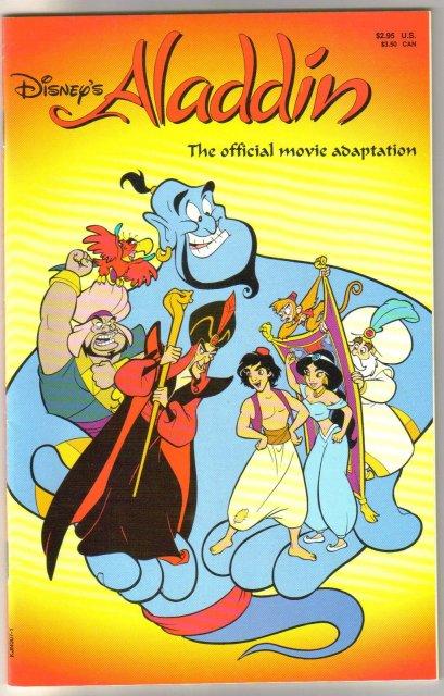 Disney's Aladdin The Official Movie Adaptation comic book near mint 9.4